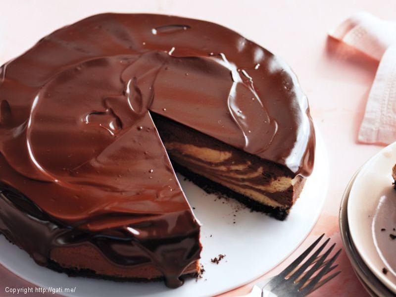 Cheesecake me cokollate dhe kikirika